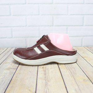 LL BEAN Front Zip Slide Mule Casual Sneakers Sz 8